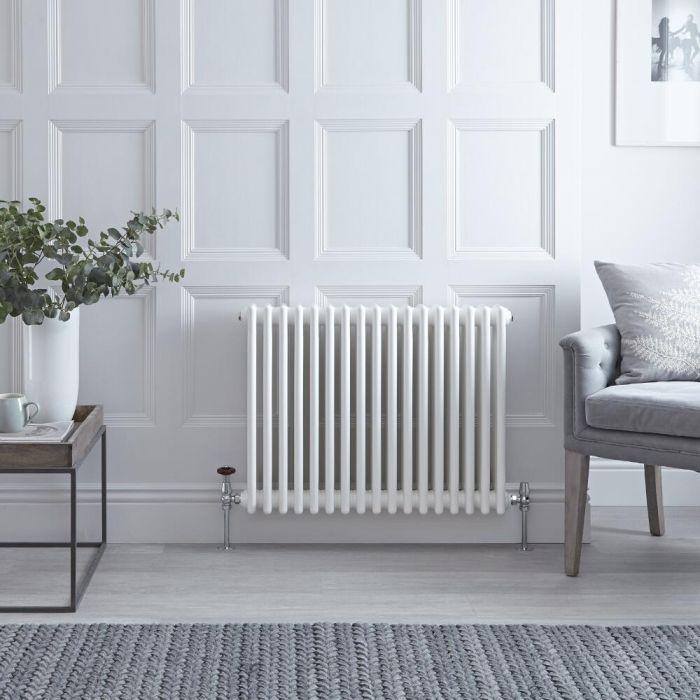 Radiateur Horizontal Style Fonte Blanc Windsor 60cm x 78,5cm x 10cm 1243 Watts