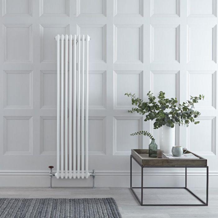 Radiateur Vertical Style Fonte Blanc Windsor 150cm x 38cm x 6,2cm 1096 Watts