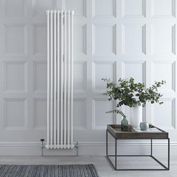 Radiateur Vertical Style Fonte Blanc Windsor 180cm x 38cm x 6,8cm 1245 Watts