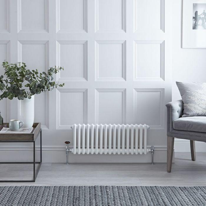 Radiateur Horizontal Style Fonte Blanc Windsor 30cm x 78,5cm x 6,8cm 541 Watts