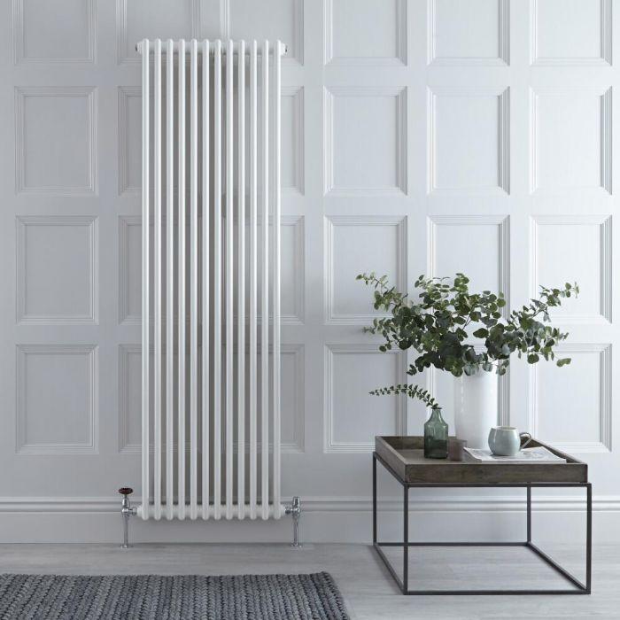 Radiateur Vertical Style Fonte Blanc Windsor 180cm x 56cm x 7cm 1867 Watts
