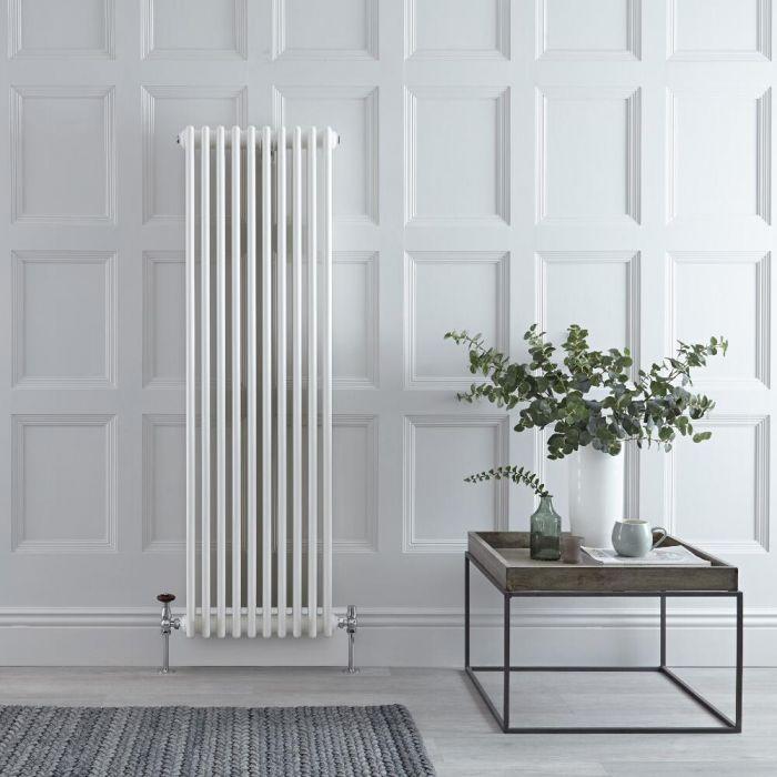 Radiateur Vertical Style Fonte Blanc Windsor 150cm x 47cm x 10cm 1734 Watts