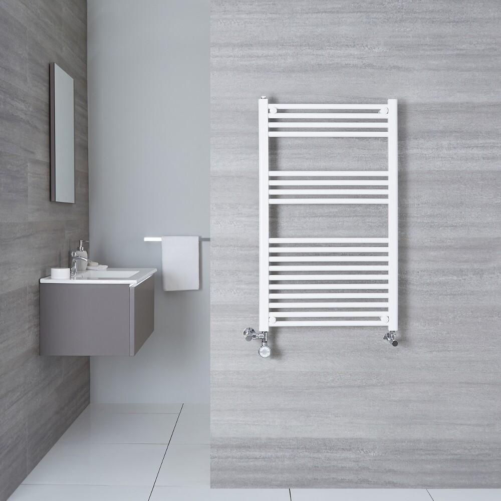 Sèche-Serviettes Mixte Blanc Etna 100cm x 50cm x 3cm 540 Watts