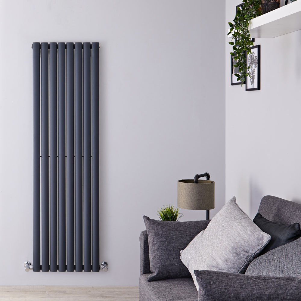 Radiateur Design Vertical Anthracite Vitality 160cm x 47,2cm x 5,6cm 1122 Watts