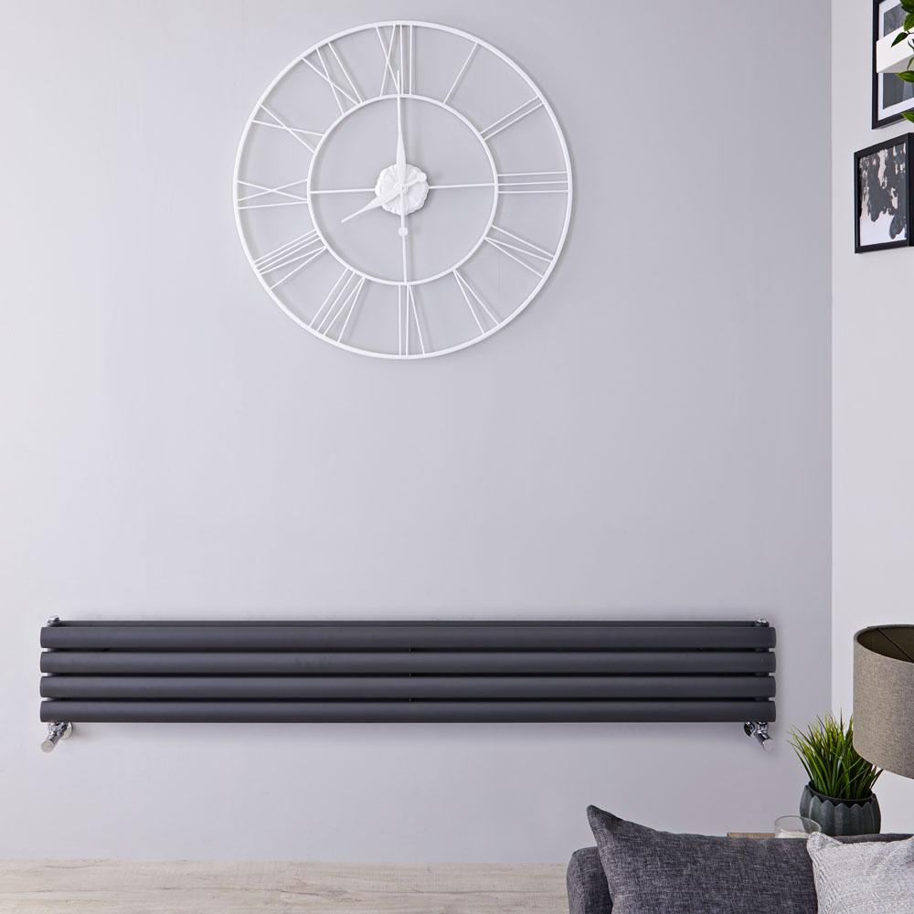 Radiateur Design Horizontal Anthracite Vitality 23,6cm x 160cm x 7,8cm 815 Watts