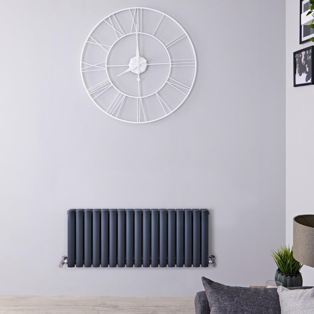 Radiateur horizontal - Anthracite - 40 cm x 100 cm - 1052 Watts - Vitality