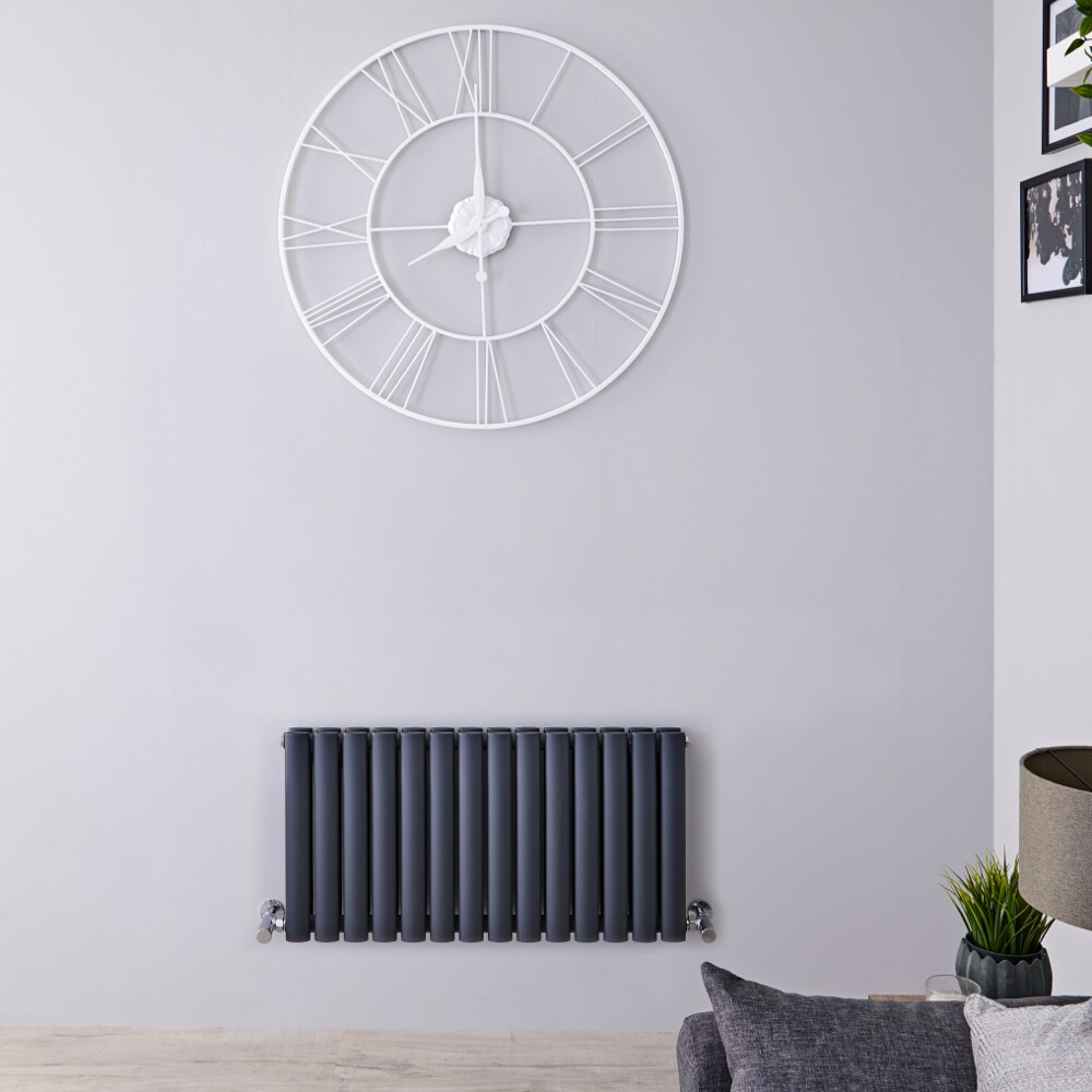 Radiateur horizontal anthracite Vitality 40 x 83.4cm 866 watts