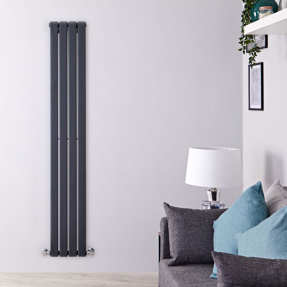 Radiateur Design Vertical Anthracite Delta 160cm x 28cm x 4,7cm 586 Watts