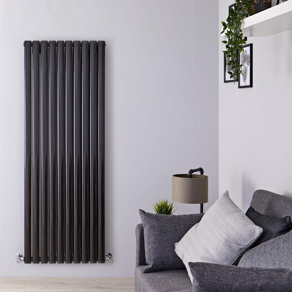 Radiateur Design Vertical Noir Vitality 160cm x 59cm x 7,8cm 2047 Watts
