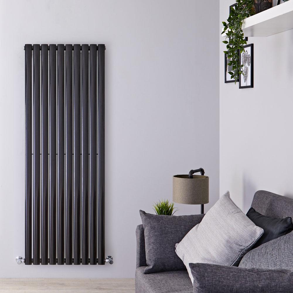 Radiateur Design Vertical Noir Vitality 160cm x 59cm x 5,5cm 1402 Watts