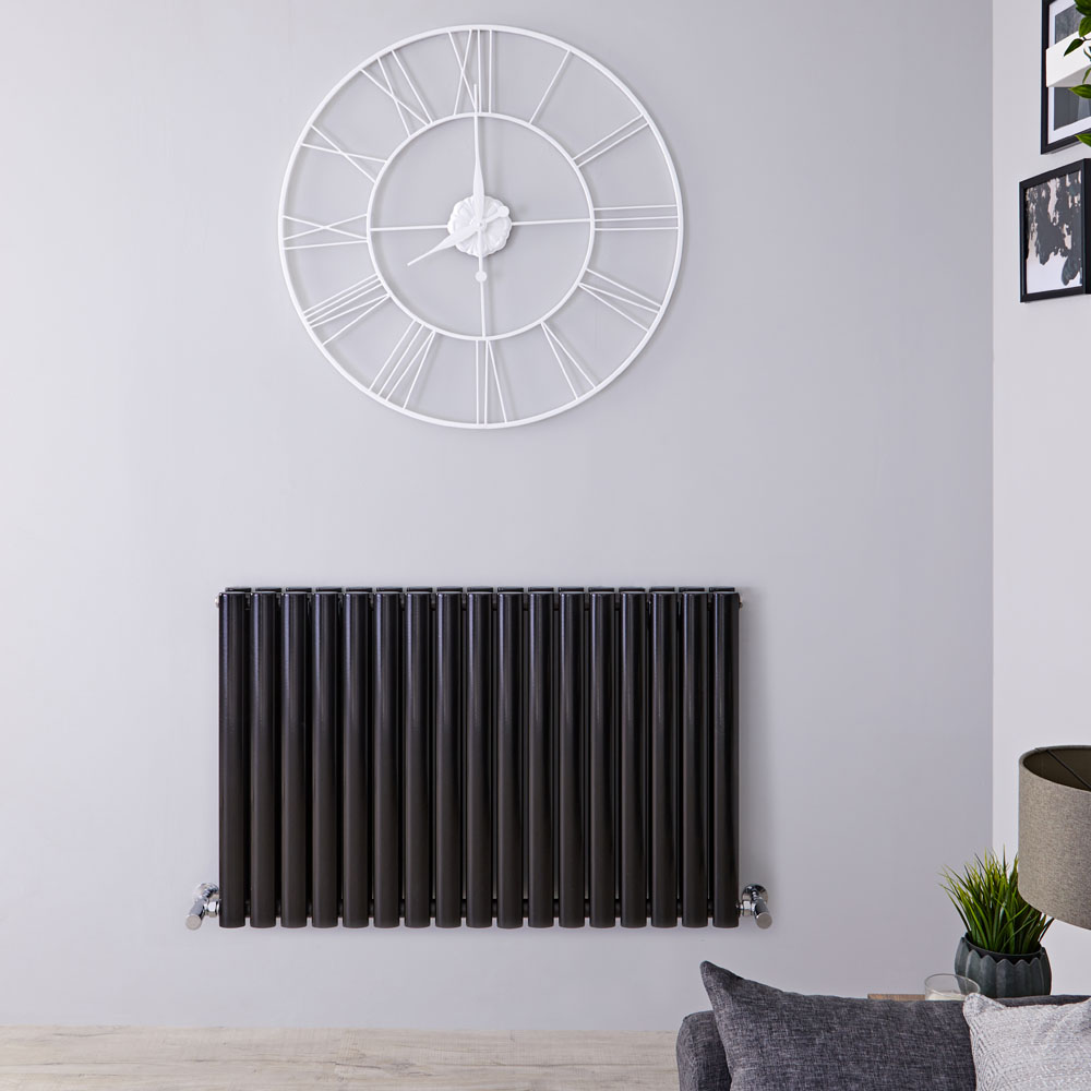 Radiateur Design Horizontal Noir Vitality 63,5cm x 100cm x 7,8cm 1584 Watts