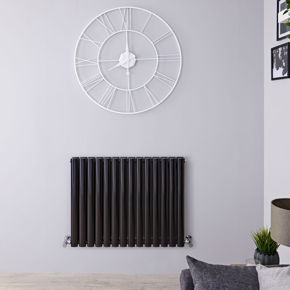 Radiateur Design Horizontal Noir Vitality 63,5cm x 83,4cm x 7,8cm 1304 Watts