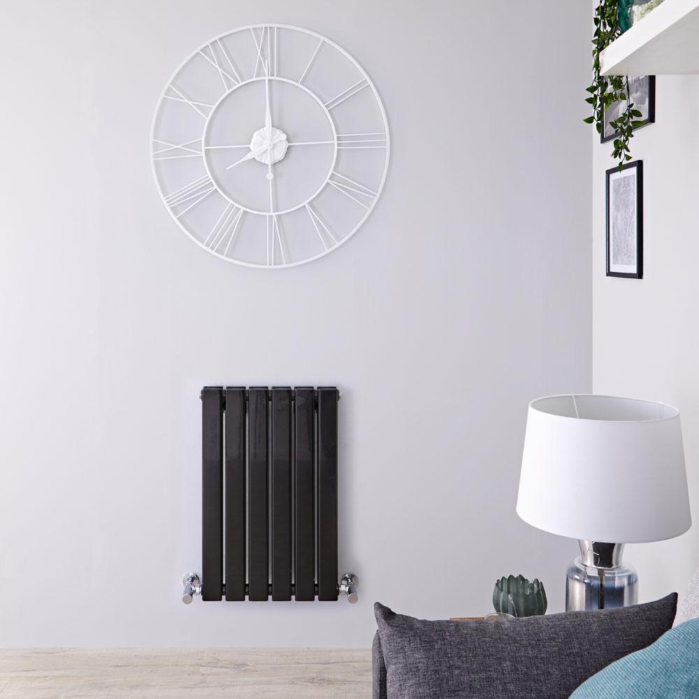 Radiateur Design Horizontal Noir Delta 63,5cm x 42cm x 5,8cm 573 Watts