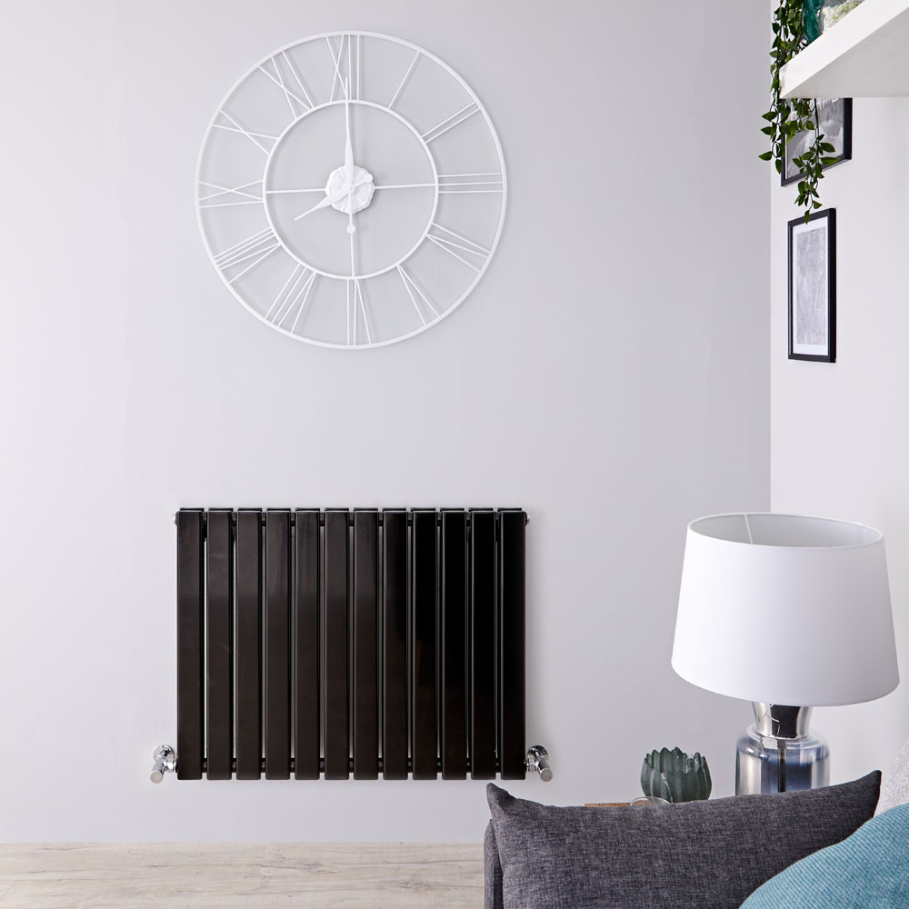 Radiateur Design Horizontal Noir Delta 63,5cm x 84cm x 5,8cm 1146 Watts