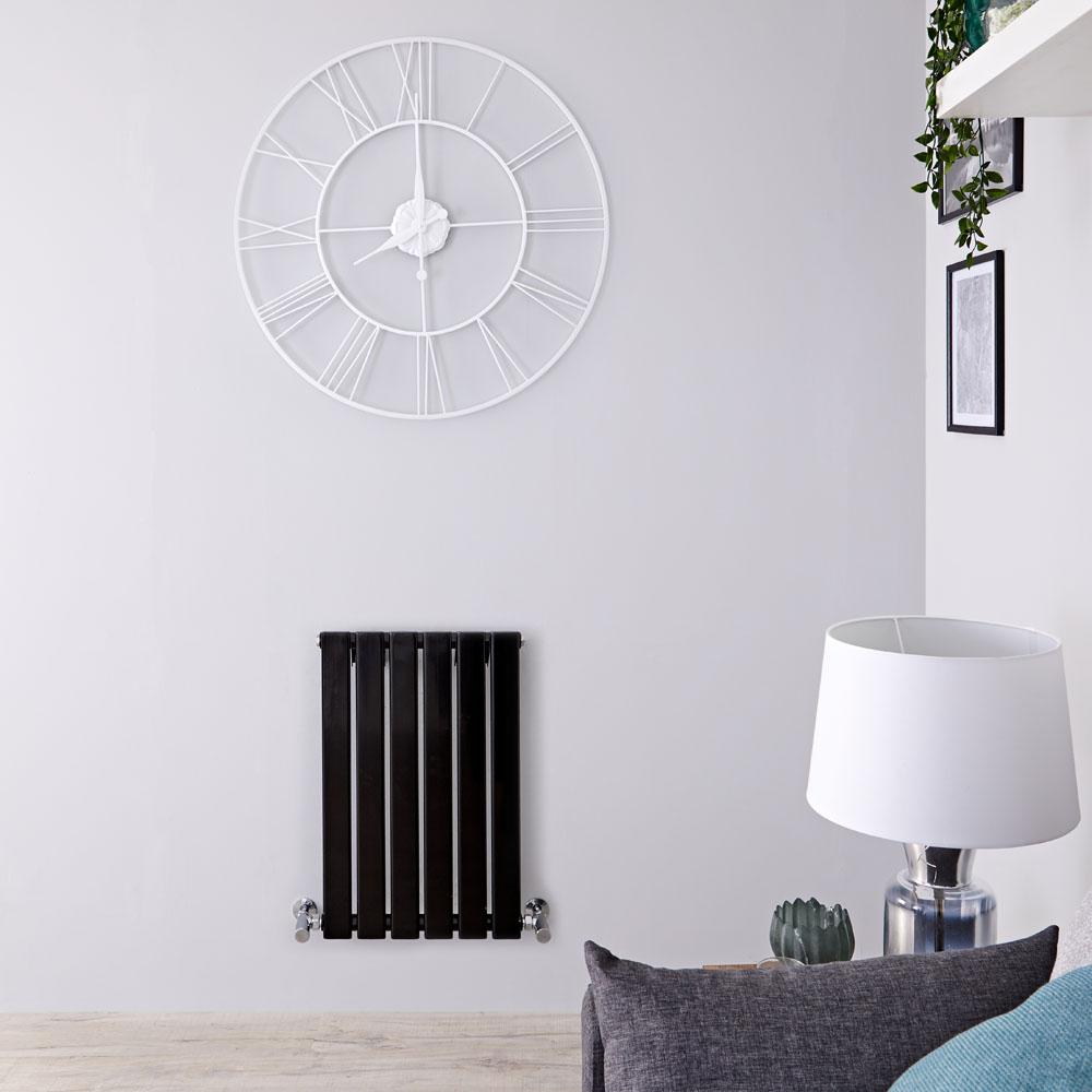 Radiateur Design Horizontal Noir Delta 63,5cm x 42cm x 4,6cm 376 Watts