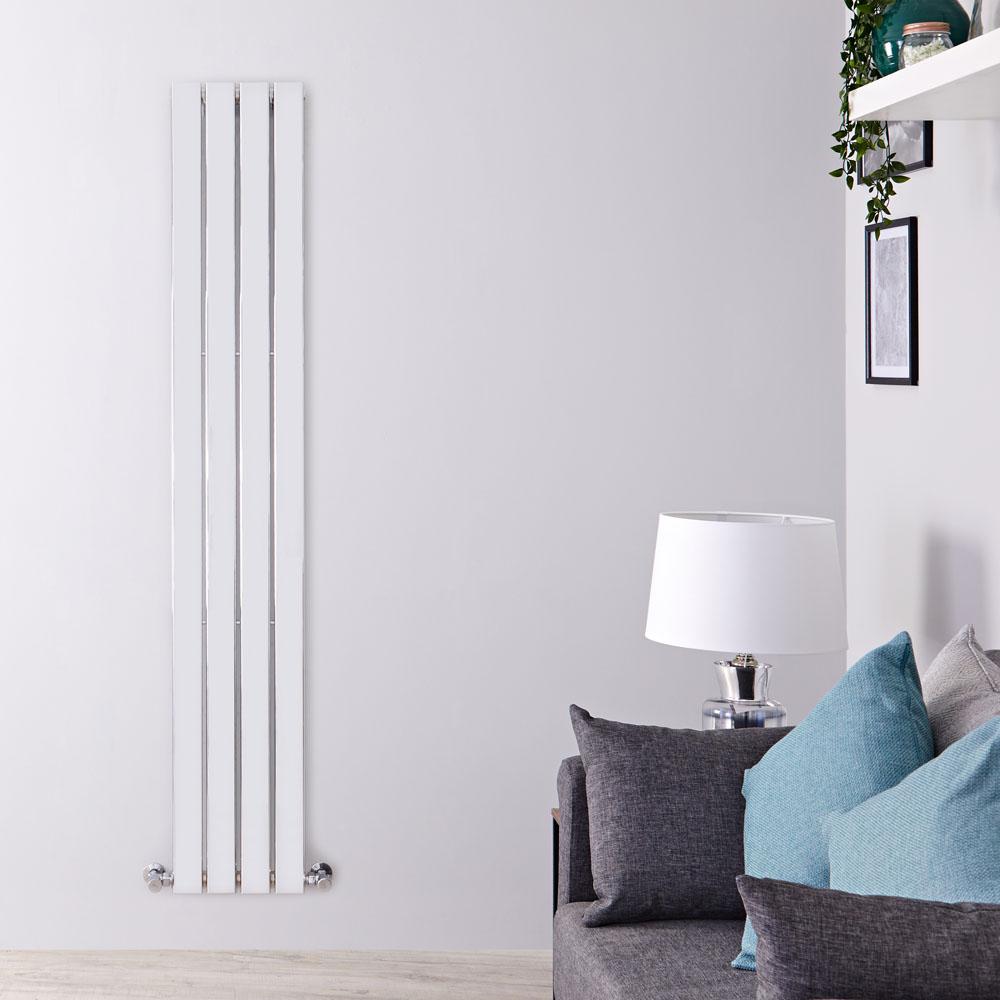 Radiateur Design Vertical Chromé Delta 160cm x 30cm x 5cm 394 Watts
