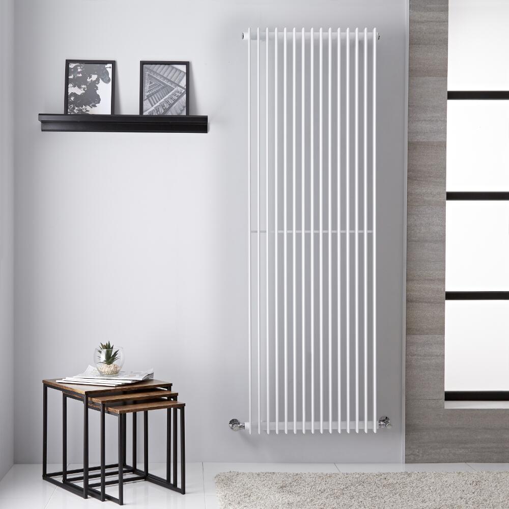 Roma - Radiateur Vertical Design Blanc - 180cm x 60.5cm 1947 Watts