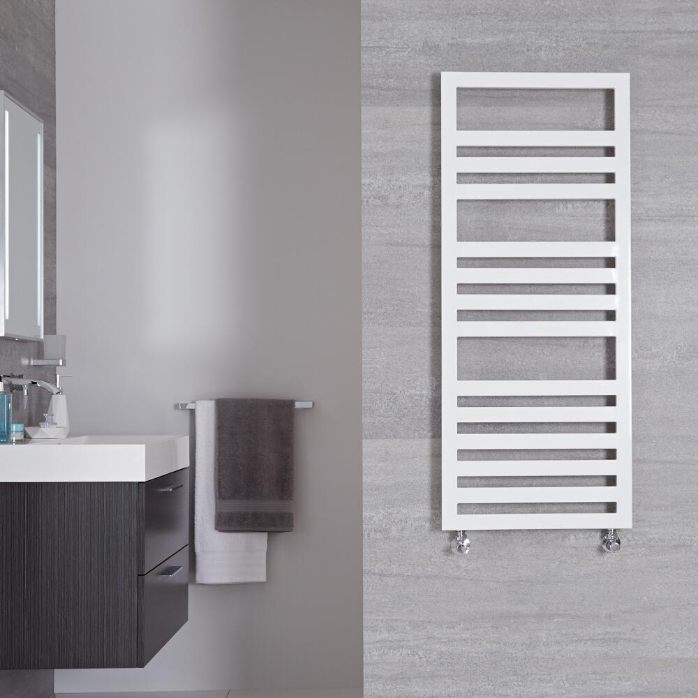 Sèche-serviettes Blanc Design Ponza - 120cm x 50m