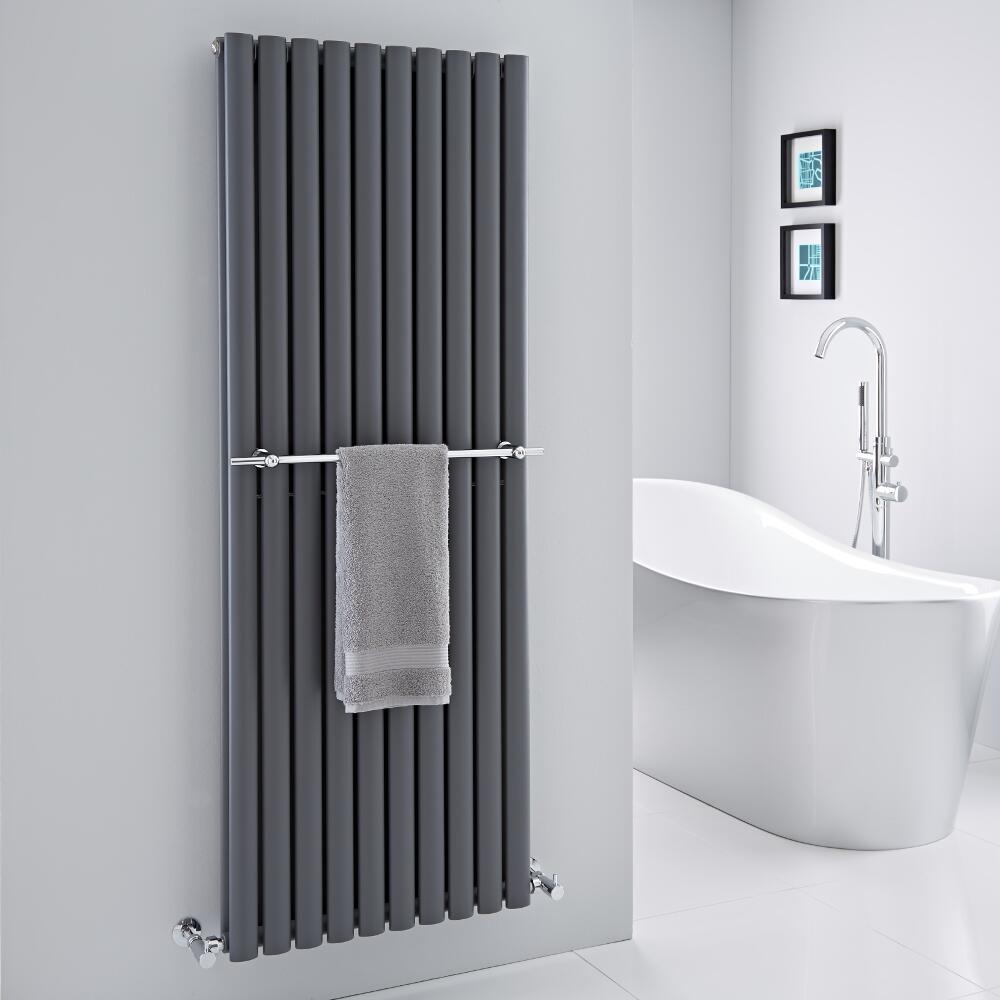 barre porte serviettes chrom e 59cm pour radiateur vitality delta