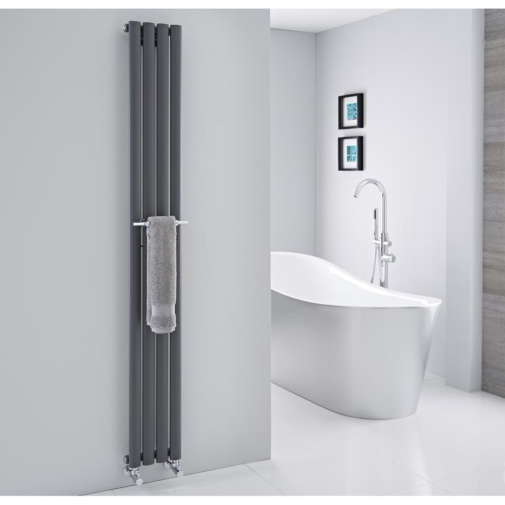 barre porte serviettes chrom e 23cm pour radiateur vitality delta