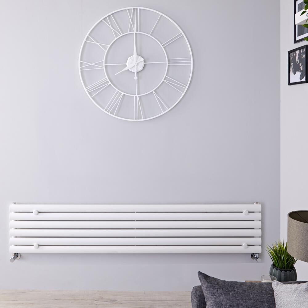 Radiateur Design Horizontal Blanc Vitality 35,4cm x 160cm x 5,6cm 815 Watts