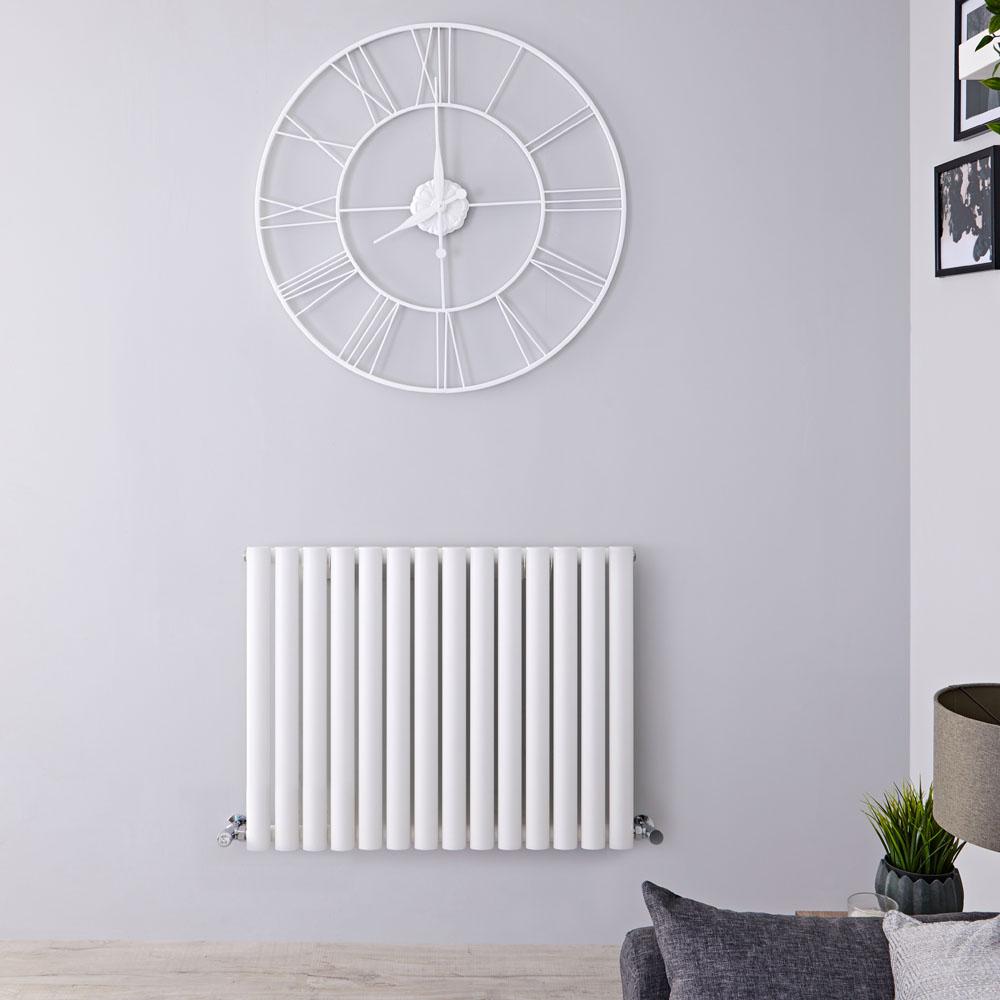 Radiateur Design Horizontal Blanc Vitality 63,5cm x 83,4cm x 5,6cm 836 Watts