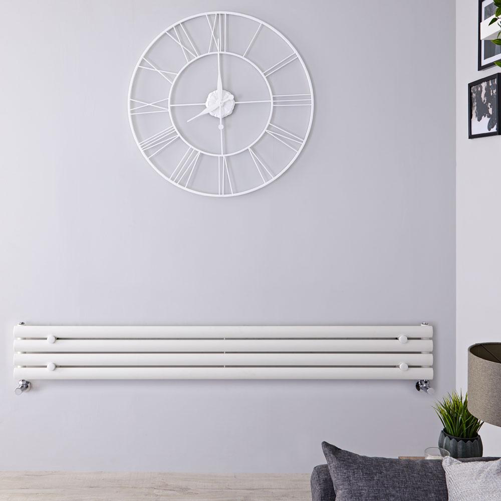 Radiateur Design Horizontal Blanc Vitality 23,6cm x 160cm x 7,8cm 518 Watts