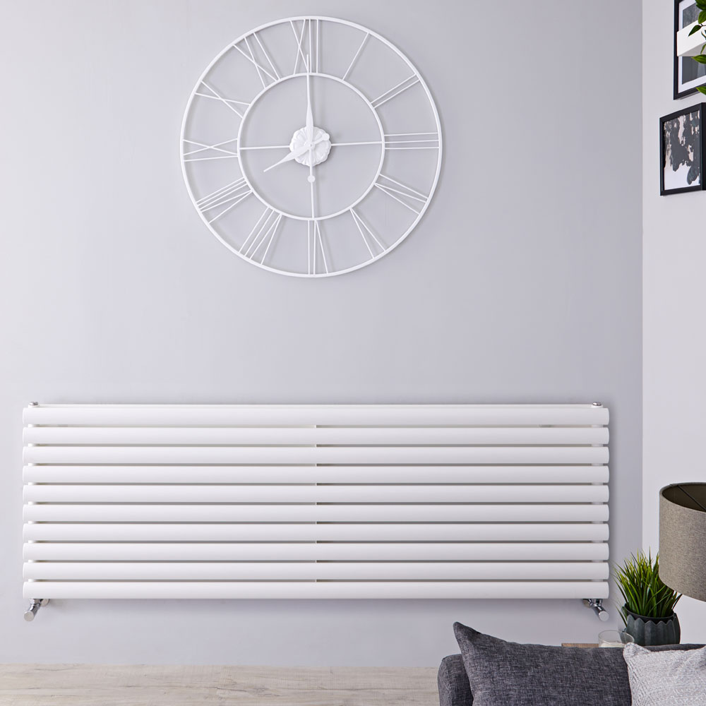Radiateur Design Horizontal Blanc Vitality 59cm x 160cm x 5,6cm 1881 Watts