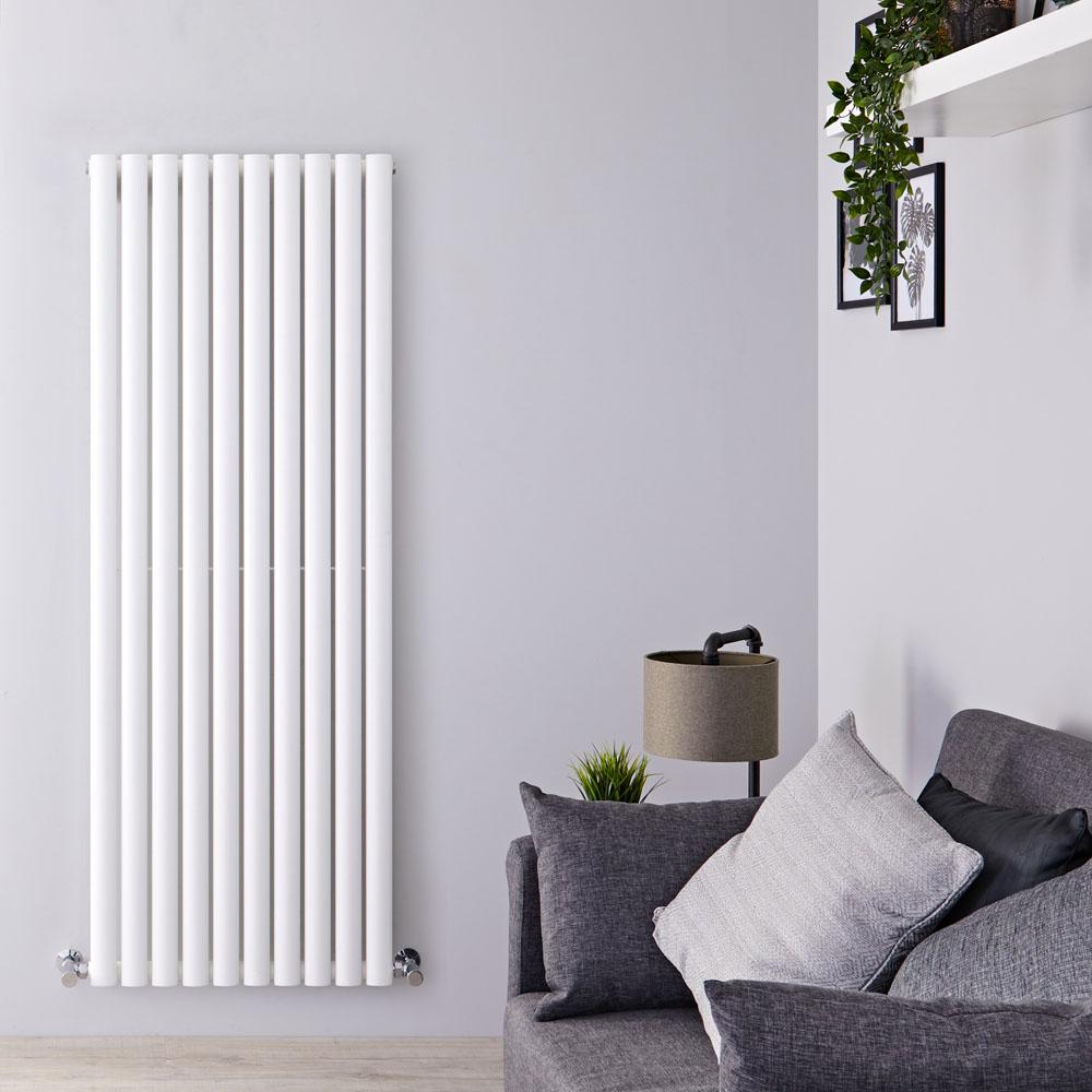 Radiateur Design Vertical Blanc Vitality 160cm x 59cm x 5,5cm 1402 Watts