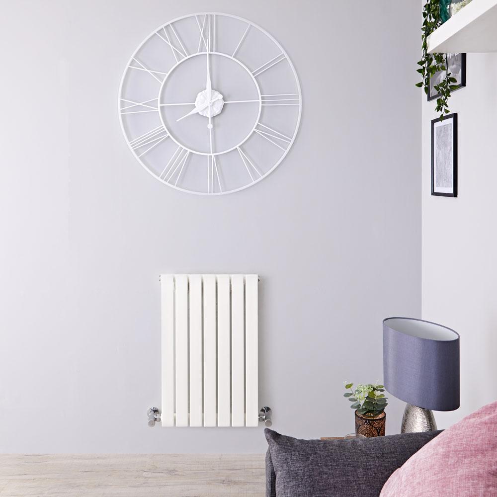 Radiateur Design Horizontal Blanc Sloane 63,5cm x 42cm x 5,4cm 421 Watts