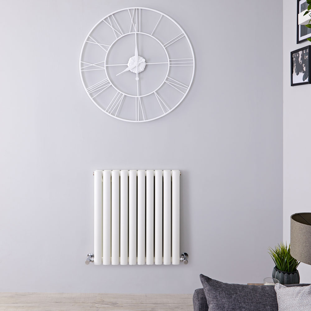 Radiateur Design Horizontal Blanc Vitality 63,5cm x 59cm x 7,8cm 932 Watts