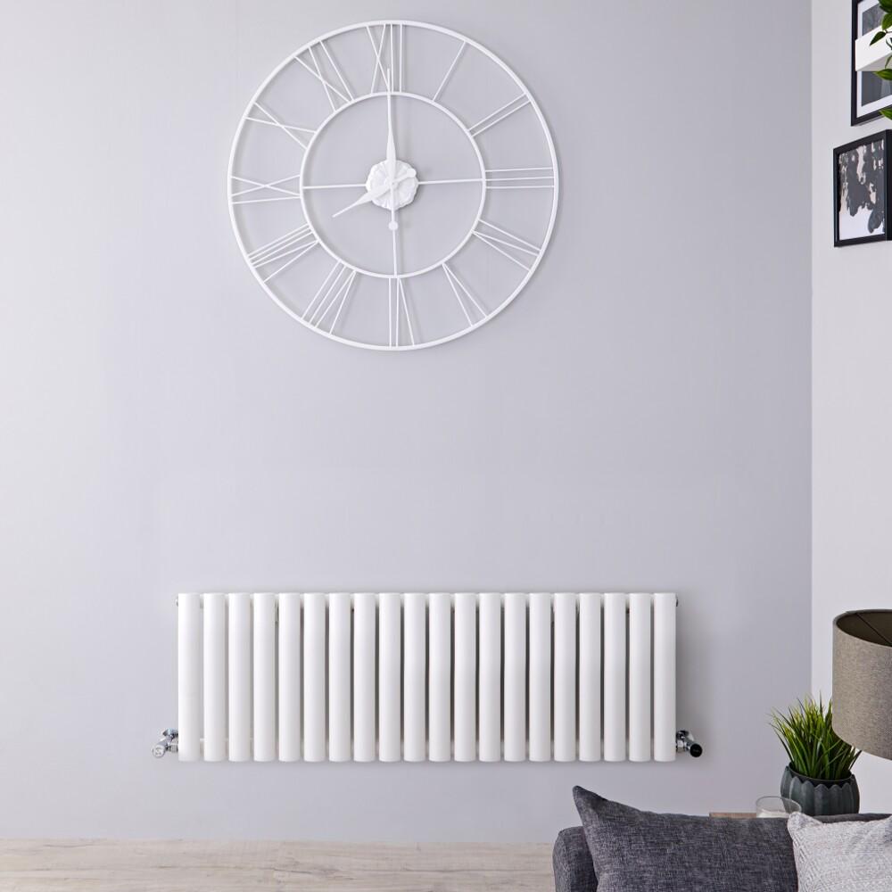 Radiateur Design Horizontal Blanc Vitality 40cm x 118cm x 5,6cm 906 Watts