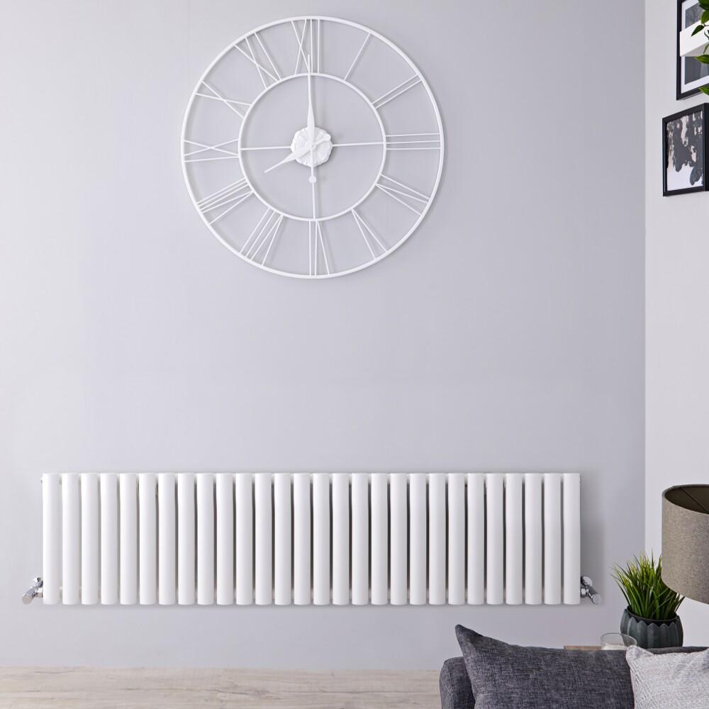 Radiateur Design Horizontal Blanc Vitality 40cm x 164,7cm x 5,6cm 1269 Watts