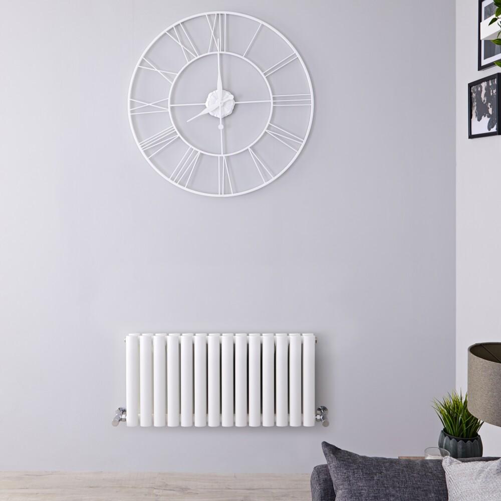 Radiateur Design Horizontal Blanc Vitality 40cm x 83,4cm x 7,8cm 964 Watts
