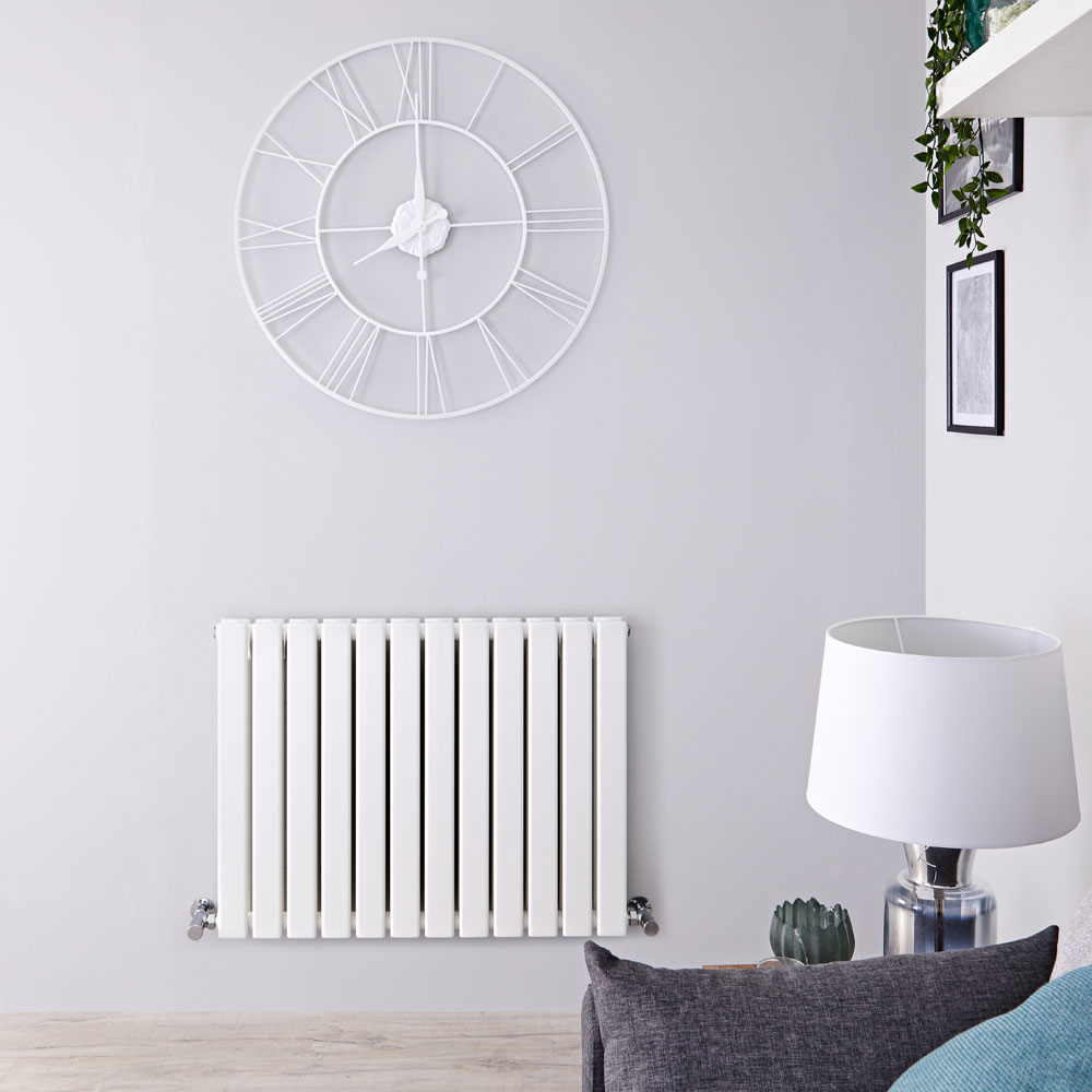 Radiateur Design Horizontal Blanc Delta 63,5cm x 84cm x 5,8cm 1146 Watts