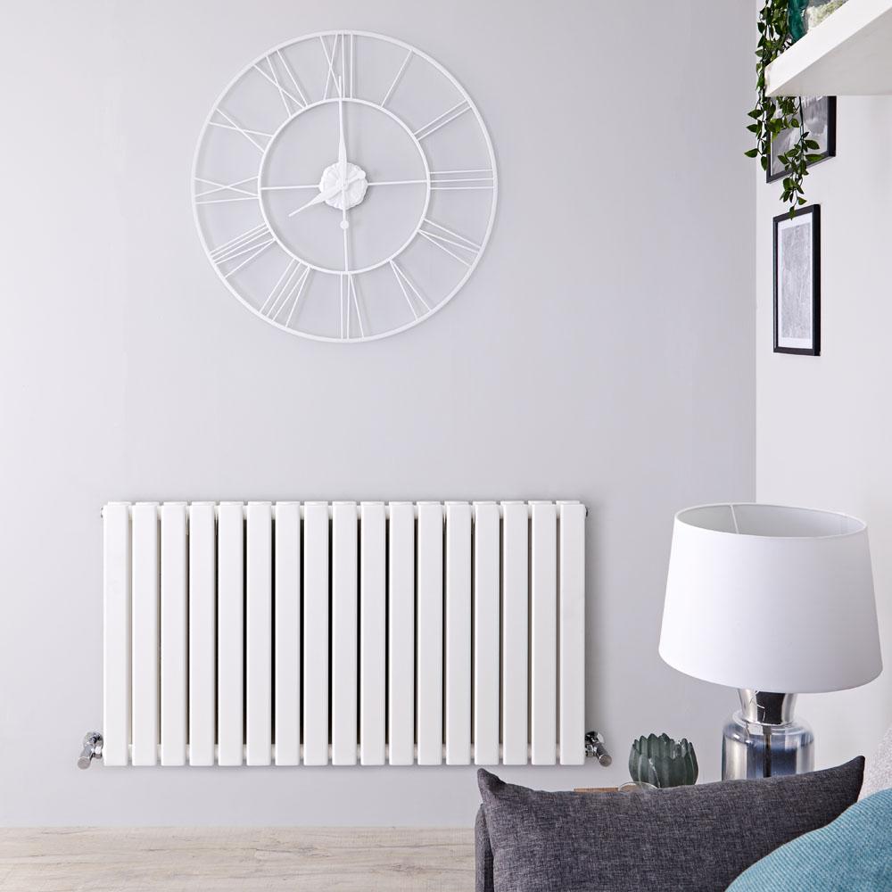 Radiateur Design Horizontal Blanc Delta 63,5cm x 119cm x 5,8cm 1624 Watts