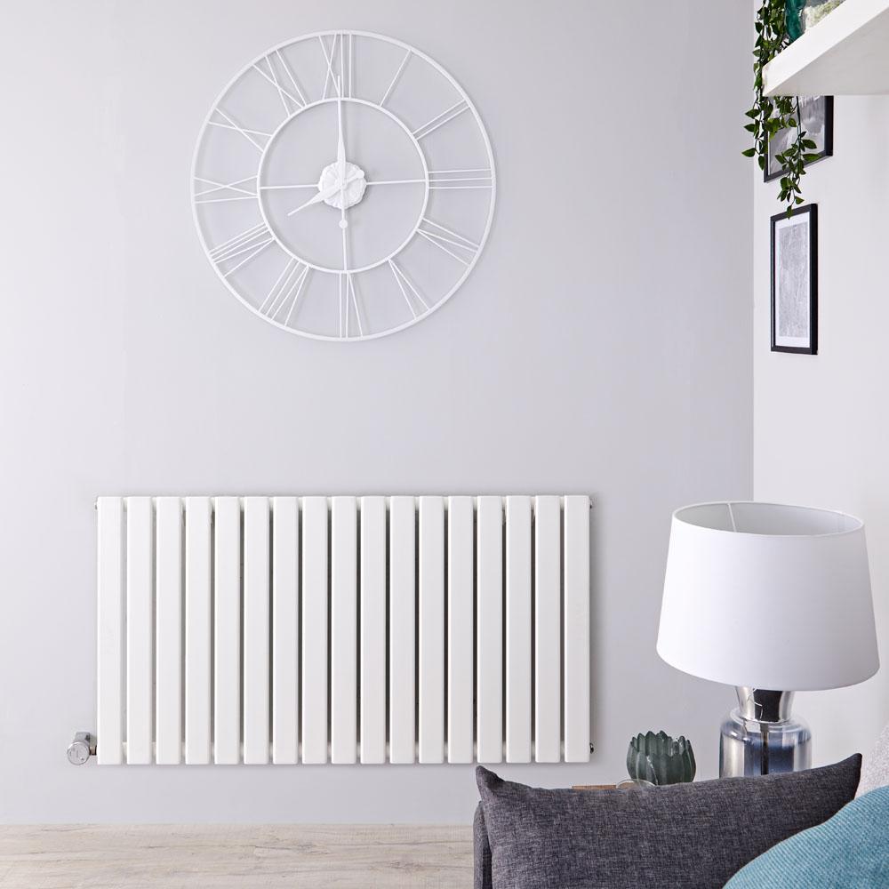 Radiateur Design Électrique Horizontal Blanc Delta 63,5cm x 119cm x 4,6cm