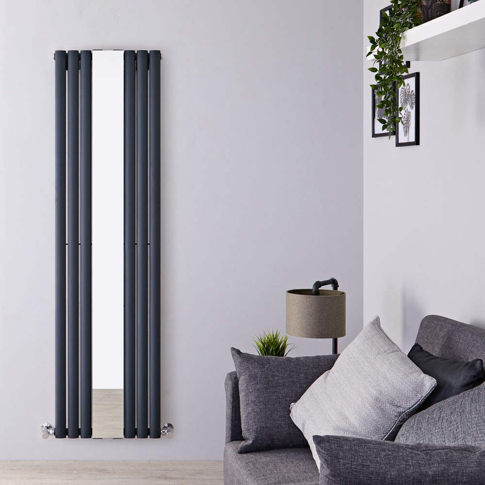 Radiateur Design Vertical Anthracite Vitality 180cm x 49,9cm x 5,5cm 1030 Watts