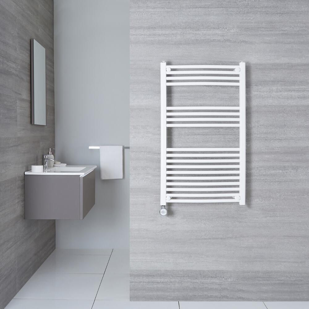 Sèche-Serviettes Électrique Incurvé Blanc Etna 100cm x 50cm x 4,5cm