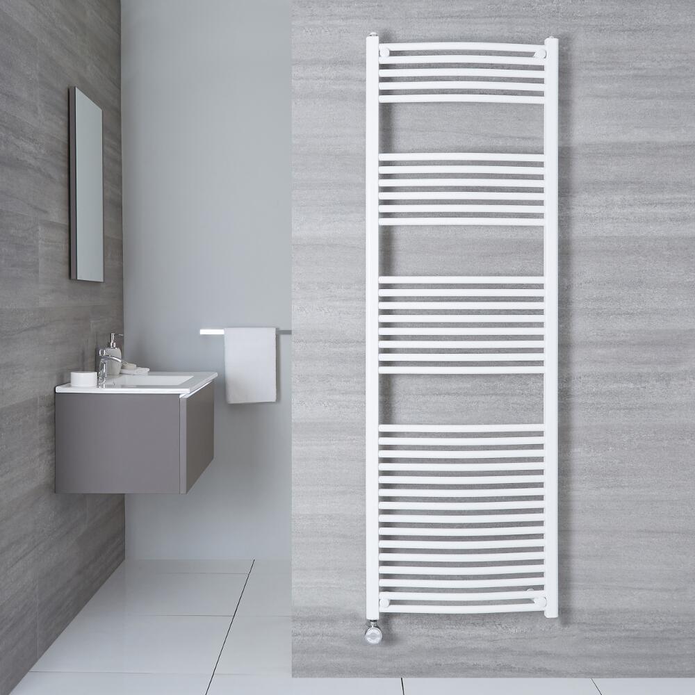 Sèche-Serviettes Électrique Incurvé Blanc Etna 180cm x 50cm x 4,5cm