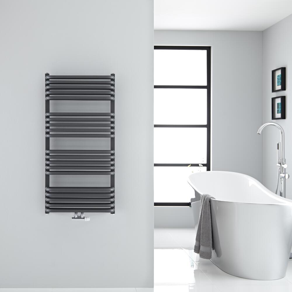Sèche-serviettes eau chaude Arch anthracite 100x50cm 933 watts