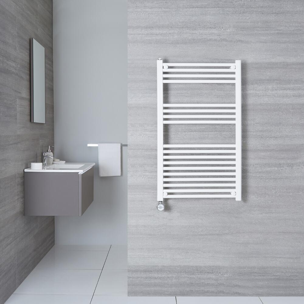 Sèche-Serviettes Électrique Blanc Etna 100cm x 50cm x 3cm