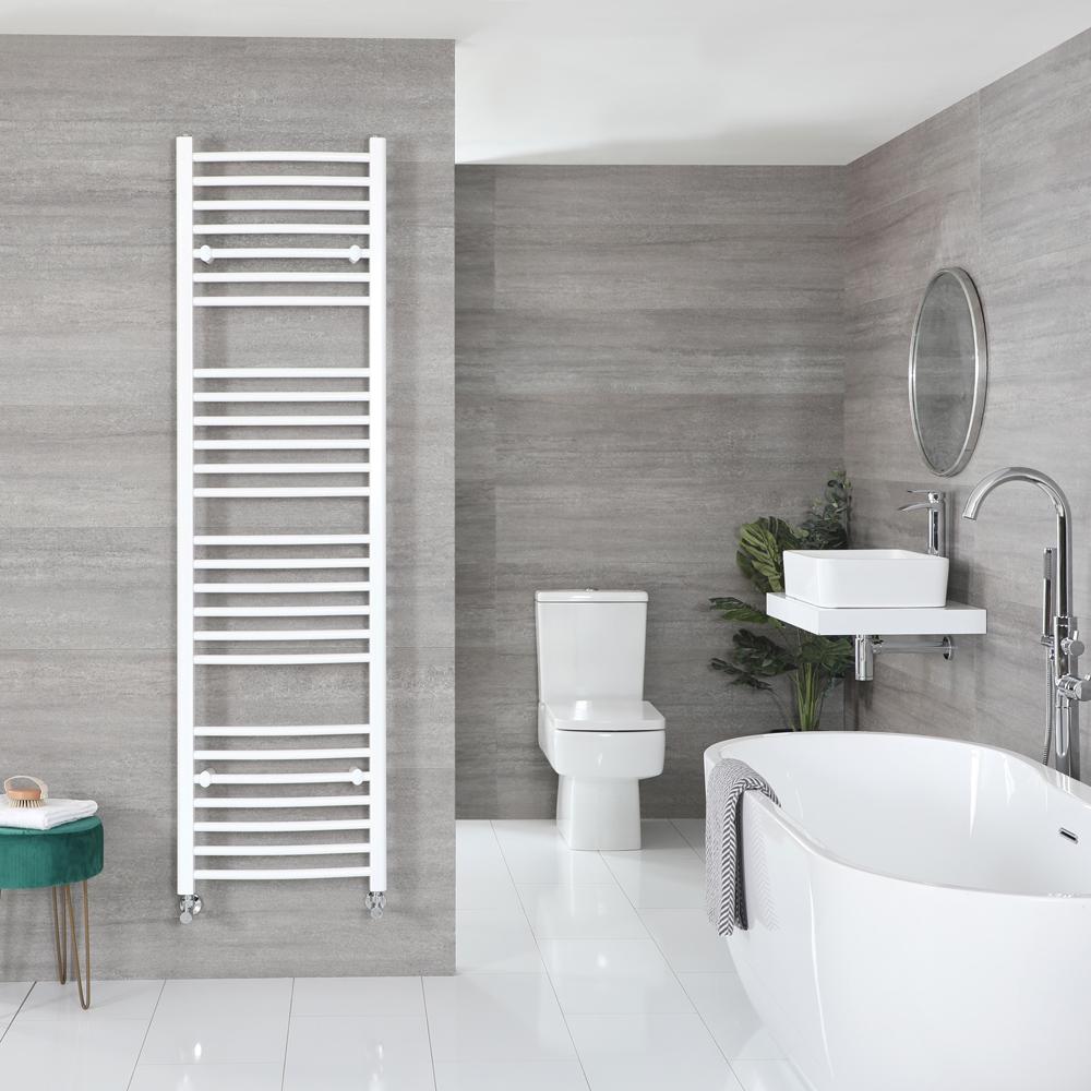 Sèche-serviettes incurvé – Blanc – 180 cm x 50 cm - Ive
