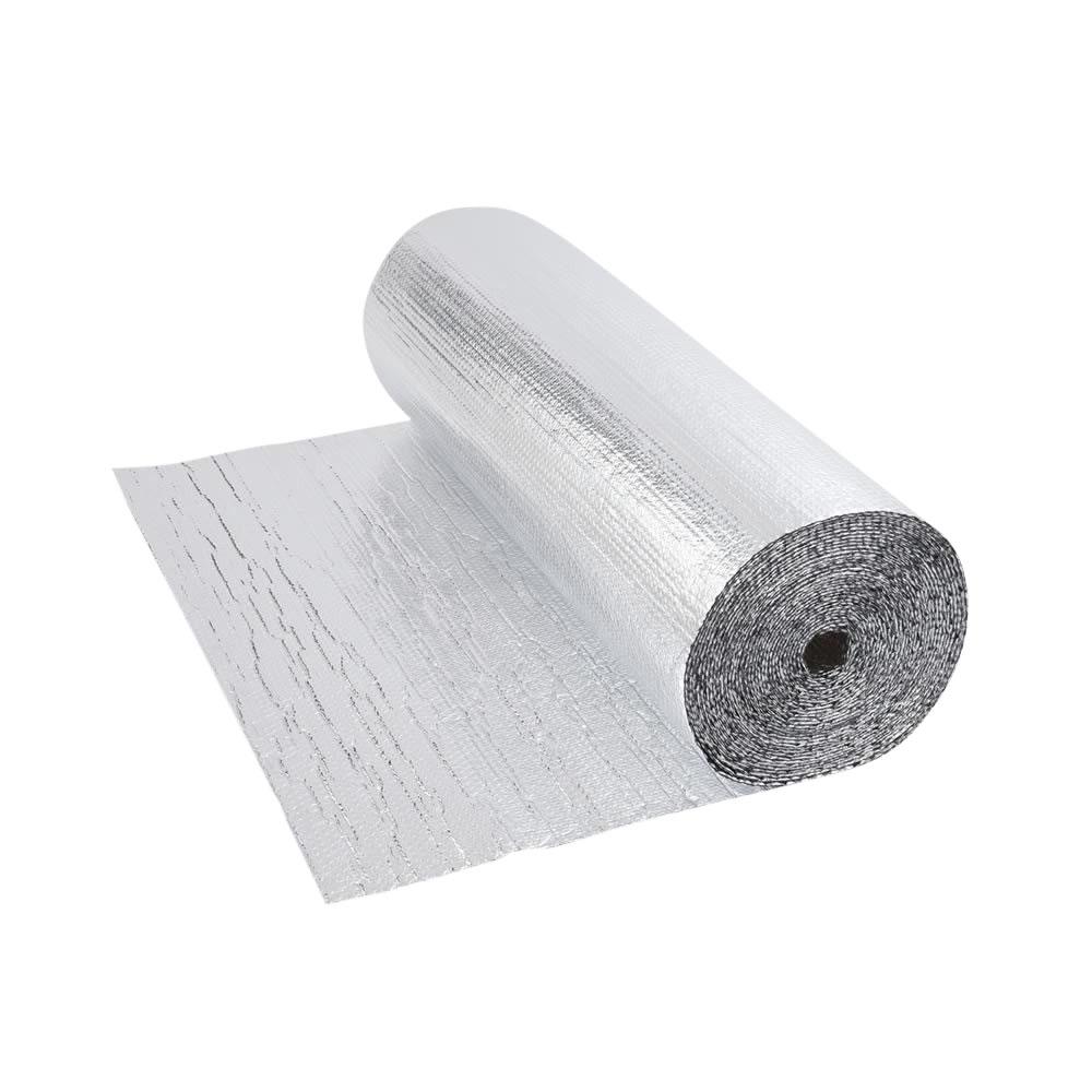 Rouleau isolant aluminium à bulles double épaisseur 5 x 1.2m Ép. 5.5mm