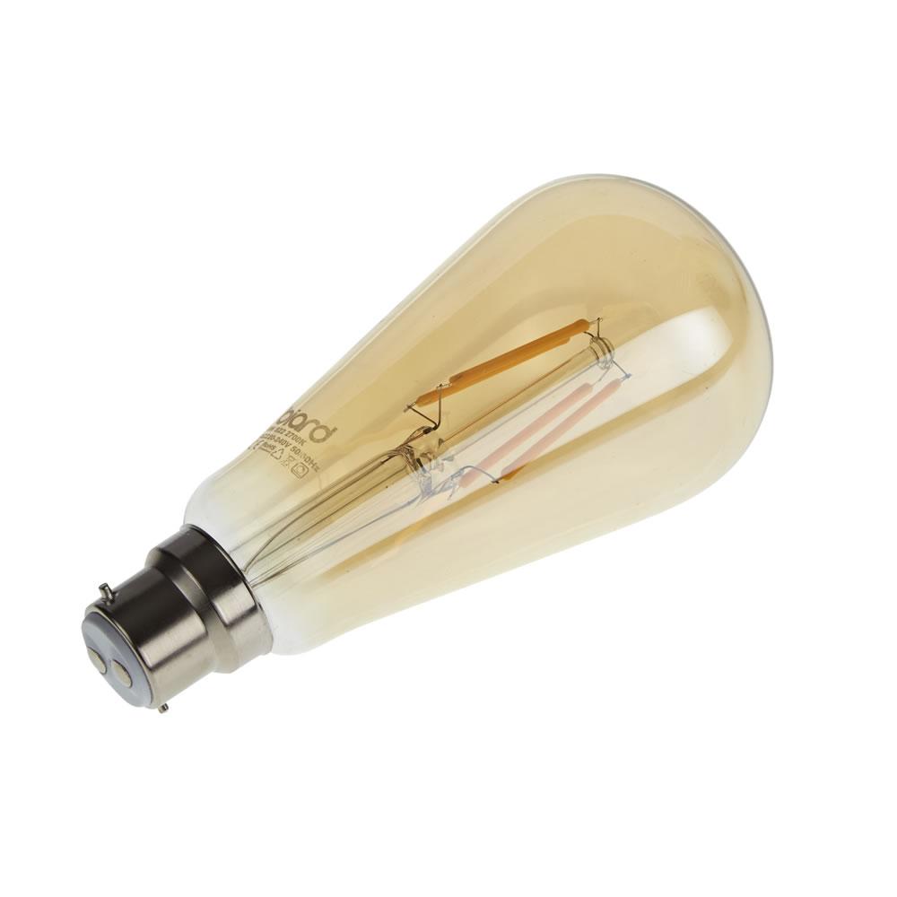 Biard Ampoule LED Filament B22 6W Dimmable Ambrée - Lot de 6