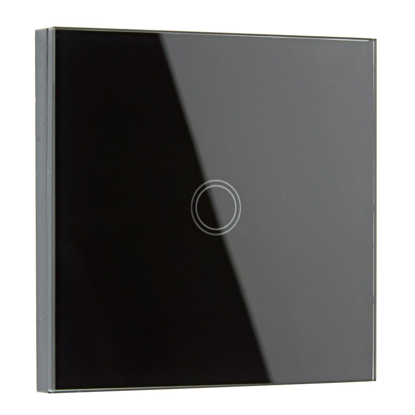 Biard Interrupteur Design Tactile Verre Noir