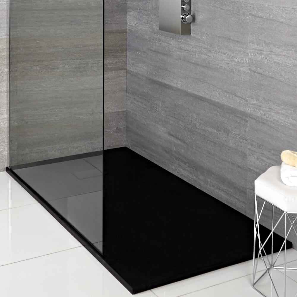 receveur de douche rectangulaire anthracite 160x80cm. Black Bedroom Furniture Sets. Home Design Ideas