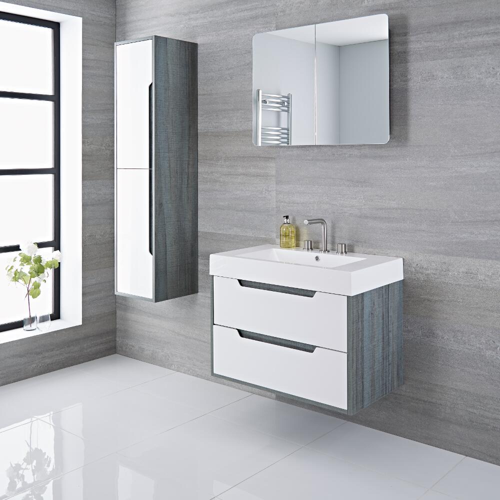 Meuble lavabo 80x50x85cm Newport