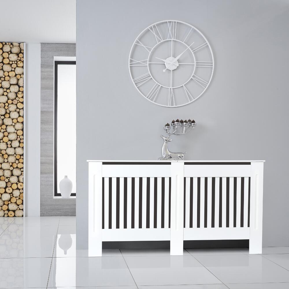 Cache Radiateur Blanc 82cm x 152cm Sutton