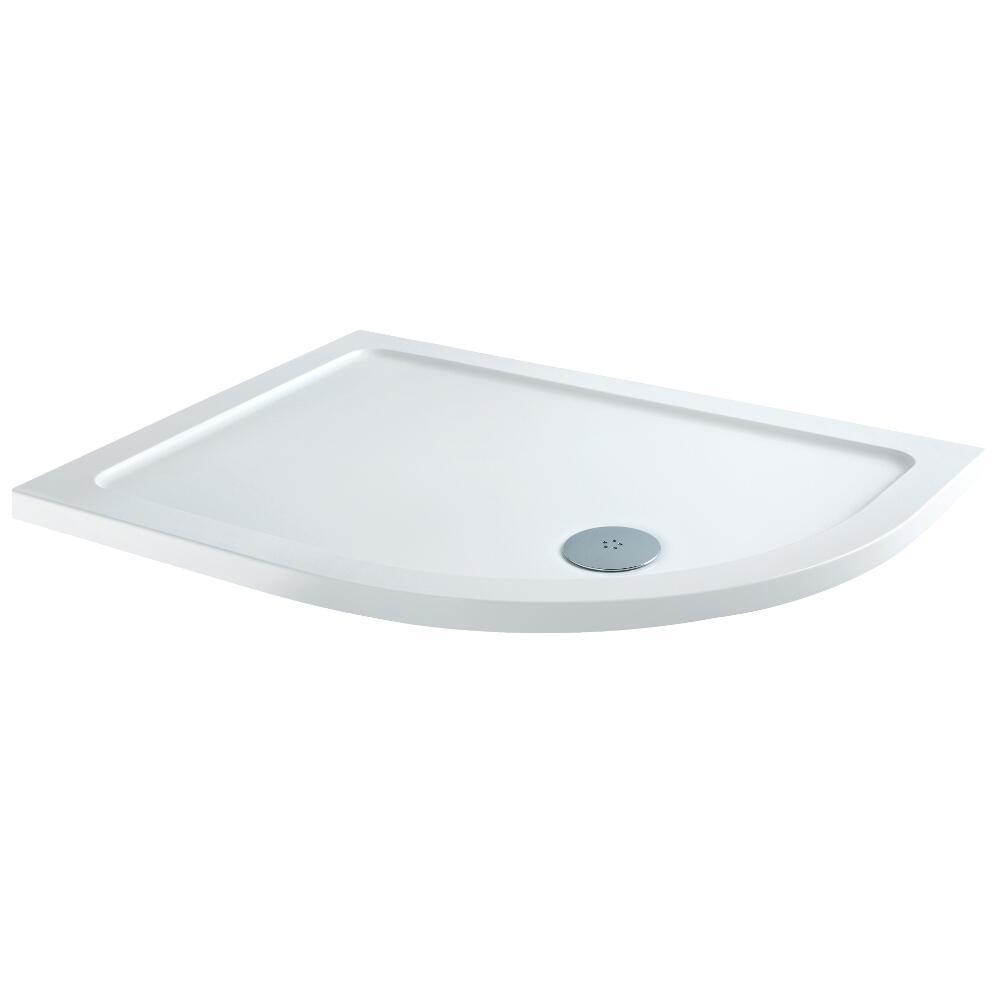 Receveur de douche Quart de rond - Angle droit100x80cm